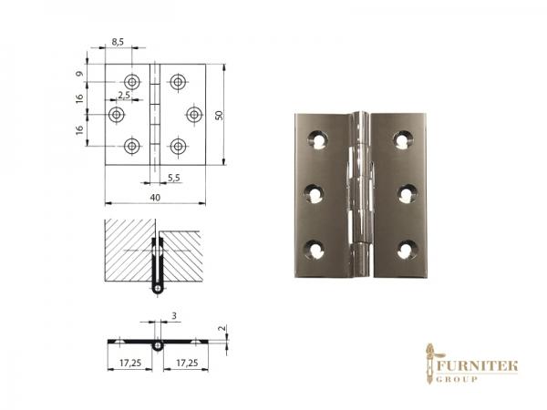 Эксклюзивная мебельная петля карточная FS