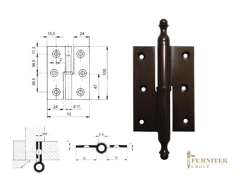 Эксклюзивная дверная петля карточная FS